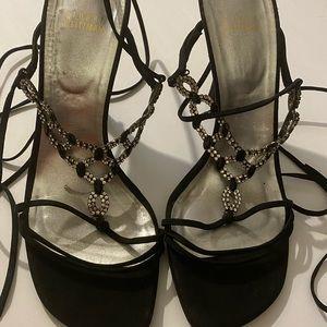 Stuart Weitzman heels with rhinestones